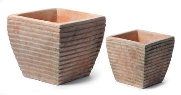 Kunststof Tuin Pot : Kunststof riet plantenbakken voor buiten