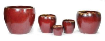 Geglazuurd aardewerk (Oxblood, Celladon, zwart, blauw en koperkleurig) - glorious-belly-pot-oxblood-s5-d20-60h18-50